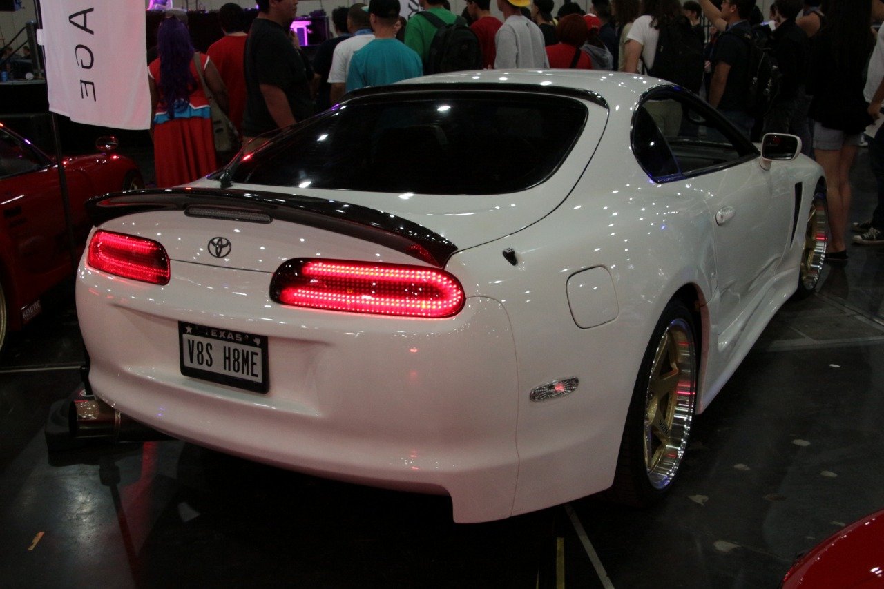 1) Car Shop Glow TOYOTA SUPRA JZA80 Custom LED Tail Lights. (smoked)